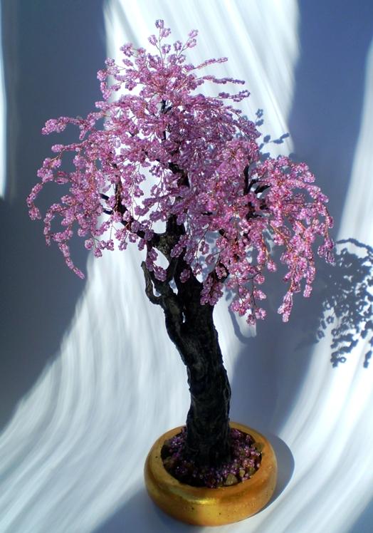 Бисерный сад деревья и цветы из